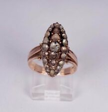Early American 1830's Rose Cut Marquis Shaped Diamond Ring, app. 2ct. tw. Size6