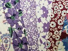 """Best 20 Vintage All Lavender Feedsack Fabric Quilt 5x8"""" Flour Sack Material 40s"""