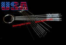 Cleaning Needle + Brush Tool Kits Carburetor Carbon Dirt Jet Remove For Kawasaki