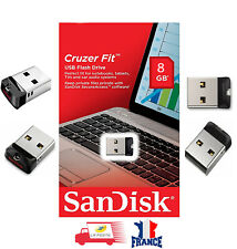 Clé USB SanDisk Cruzer Fit CZ33 8GB Mini Nano USB Flash Pen Drive Memory Stick