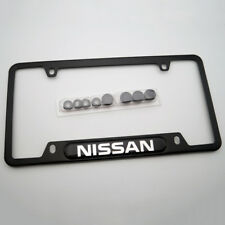 For Nissan Brand New License Frame Plate Cover Black