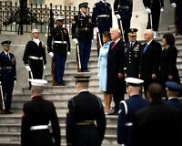 """ZY-748 PRESIDENT DONALD TRUMP ENTERS /""""HALL OF HEROES/"""" THE PENTAGON 8X10 PHOTO"""
