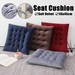 1Stk 45x45cm Sitzkissen Stuhlkissen Sitzpolster Samt Quadratisch Sofa Dekokissen