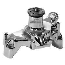 Tuff Stuff Water Pump 1511NBREV; High Volume Polished Aluminum for Chevy SBC