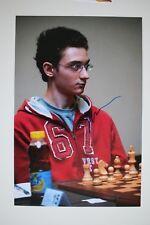 Gm fabiano caruana signed 20x30cm foto autógrafo Autograph ip4 Grandmaster Chess