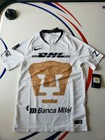 Nike Mens 18/19 Pumas UNAM Home Stadium Soccer Jersey(White/Gold)919013 101 Sz.S