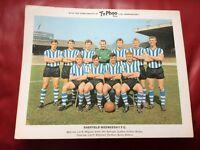 TYPHOO FOOTBALL TEAM CARD SHEFFIELD WEDNESDAY 1964/65
