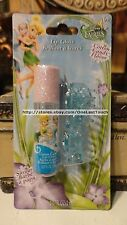 3pc DISNEY FAIRIES 2 Blue Jaw Clips + COTTON CANDY Roll-On Lipgloss TINKERBELLE