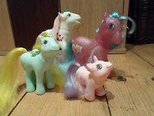 1986 Mi Pequeño Pony Original Vintage años 80 Colección X 4 Brillo, bebé Unicornio +