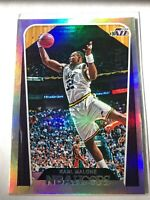 2018 Panini NBA Hoops #294 Karl Malone Tribute Utah Jazz Card SILVER # 41/199