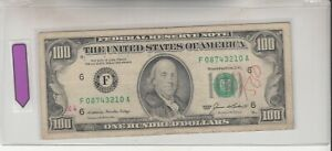 1985 (F) $100 One Hundred Dollar Bill Federal Reserve Note Atlanta Vintage Money