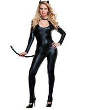Sexy Bodysuit Spandex PVC Jumpsuit Latex Costume Catsuit Catwoman DS Clubwear