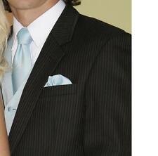 70 Long - Black Pinstripe 2 Button Tuxedo Coat Jacket