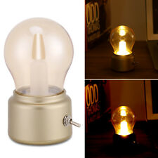 Creative Retro LED Night Light USB Rechargeable Bedside Desk Bulb Lamp Xmas Gift