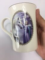 Anne Stokes Collection Unicorn Mug  White & Soft Blues with Silver Rim