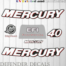 Mercury 40 HP 4-Stroke EFI outboard engine decal sticker  kit reproduction 2006