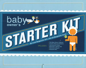 The Baby Owner's Starter Kit - Manual Growth Chart Poster Quirk Books New