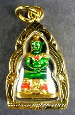 MINI EMERALD BUDDHA AMULET FROM THE WAT PHRA KAEO TEMPLE BANGKOK on NECKLACE