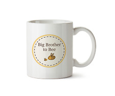 Big Brother to be Mug New Baby Shower Ceramic Gift 10oz Cup Bumble Bee Design