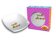 """""""Choo Choo Treno"""" DIVERTENTE e colorato in Ceramica Quadrato Ciotola per bambini 18 cm / 7 REGALO"""