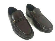 Florsheim Mens Riva Burgundy Shoes Easy Fit 17088-05 Classic Loafer Leather 10.5