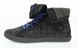 THE NORTH FACE Women's Black Gray Base Camp Roll-Down Sneakers Sz 6