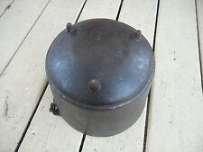 Vintage No. 8 Cast Iron Kettle Cauldron Pot 3 Legged Peyote Drum