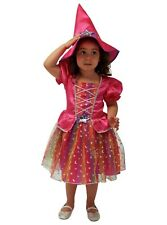 Girls Witch Fancy Dress For Babies Toddlers Ebay