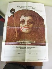 Vintage 1 sheet 27x41 Movie Poster What Happened To Aunt Alice 1978 Ruth Gordon