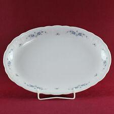 Platte oval 34 cm Seltmann Weiden Julia blaue Mageritenranke (Gebrauchsspuren)