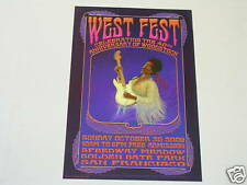 Jimi Hendrix Rock Concert Poster At Speedway Meadows West Fest by Michael Moss