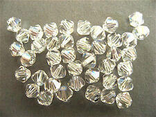 48 Crystal Moonlight Swarovski Crystal Beads Bicone 5328 4mm