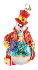 Christopher Radko - Fancy Fella - Glorious Snowman - Retired Ornament 1015293