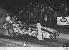 MICKEY THOMPSON'S MUSTANG FUNNY CAR AT LIONS    8X12 DRAG RACING  PHOTO