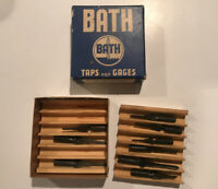 Vintage Bath ground taps ground thread Taps 9 In box