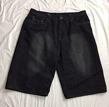 Blac Label Premium Denim Goods Shorts Size 42 Mens Black  Studded Flap Pocket