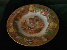 Vintage Enoch Woods Brown ENGLISH SCENERY Salad / Pasta Rimmed Bowl