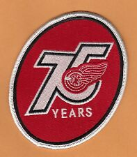 OFFICIAL 2000 DETROIT RED WINGS 75th ANNIVERSARY LARGE JERSEY JACKET PATCH NOS