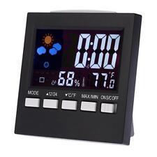 Digital Uhr Wecker Funk Wetterstation Thermometer Hygrometer LCD Farbdisplay NEU