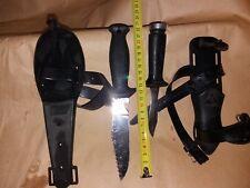 coppia di coltelli sub piccoli acciaio inox