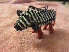Handmade Metal Bead & Wire Zebra Ornament