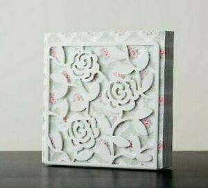 IKEA LIKSIDIG Napkin Holder No-Slip Heavy Duty Metal Modern White Rose Design