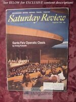 Saturday Review August 30 1969 SANTE FE OPERA ELLEN SANDER LEON KIRCHNER