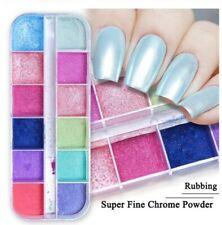 12 pcs Chrome Pearl Dipping Powder Nail Dust