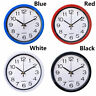 Simplicity Quartz Bell Wall Clock Sweep Second Movement Silent Home Decor
