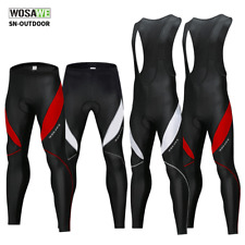 Men's Cycling Bib Tights Long Compression Padded Pants MTB Road Bike Trousers