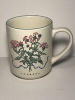 Woodbine Meadows Compliments Coffee Mug 'Verbena' Ceramic Cup Herb Garden