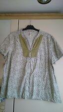 Para mujer Talla 22 Verde y Blanco Camisa De Bon Marche, 100% algodón