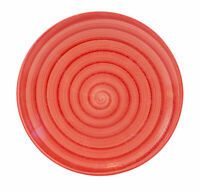 """Tabletops Unlimited Red SWIRL Hand Painted Collection Plate Salad 8 1/4"""""""