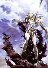 POSTER A4 PLASTIFIE-LAMINATED(1 FREE/1 GRATUIT)*MANGA CLAYMORE.GUERRIERE CLAIRE6